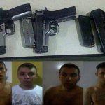 Cuatro pandilleros de la '18' detenidos en Honduras. Foto tomada del diario elheraldo.hn
