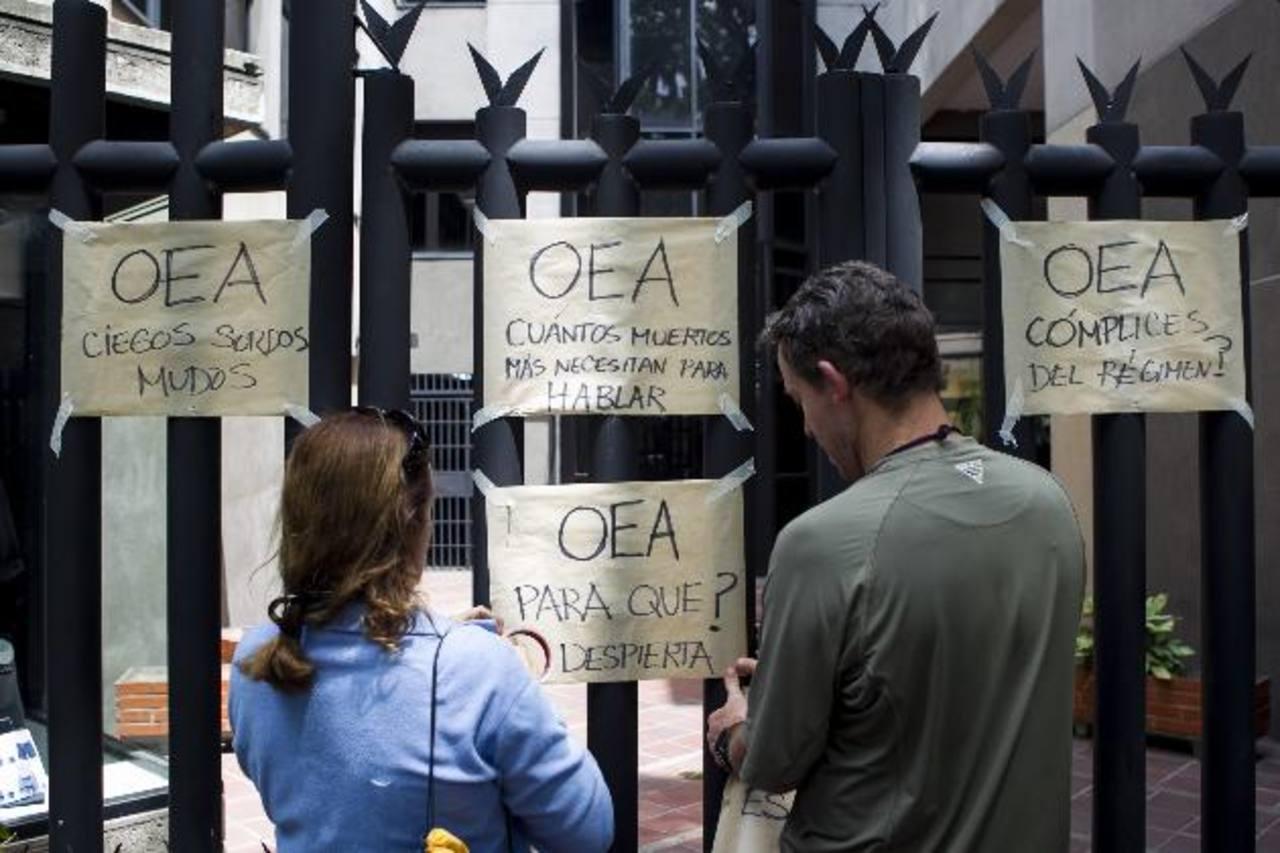 """Dirigentes de la oposición venezolana exigieron a la Organización de Estados Americanos (OEA) la activación del mecanismo interamericano y una reacción """"firme"""" sobre lo que está sucediendo en el país. Foto EDH / internet"""