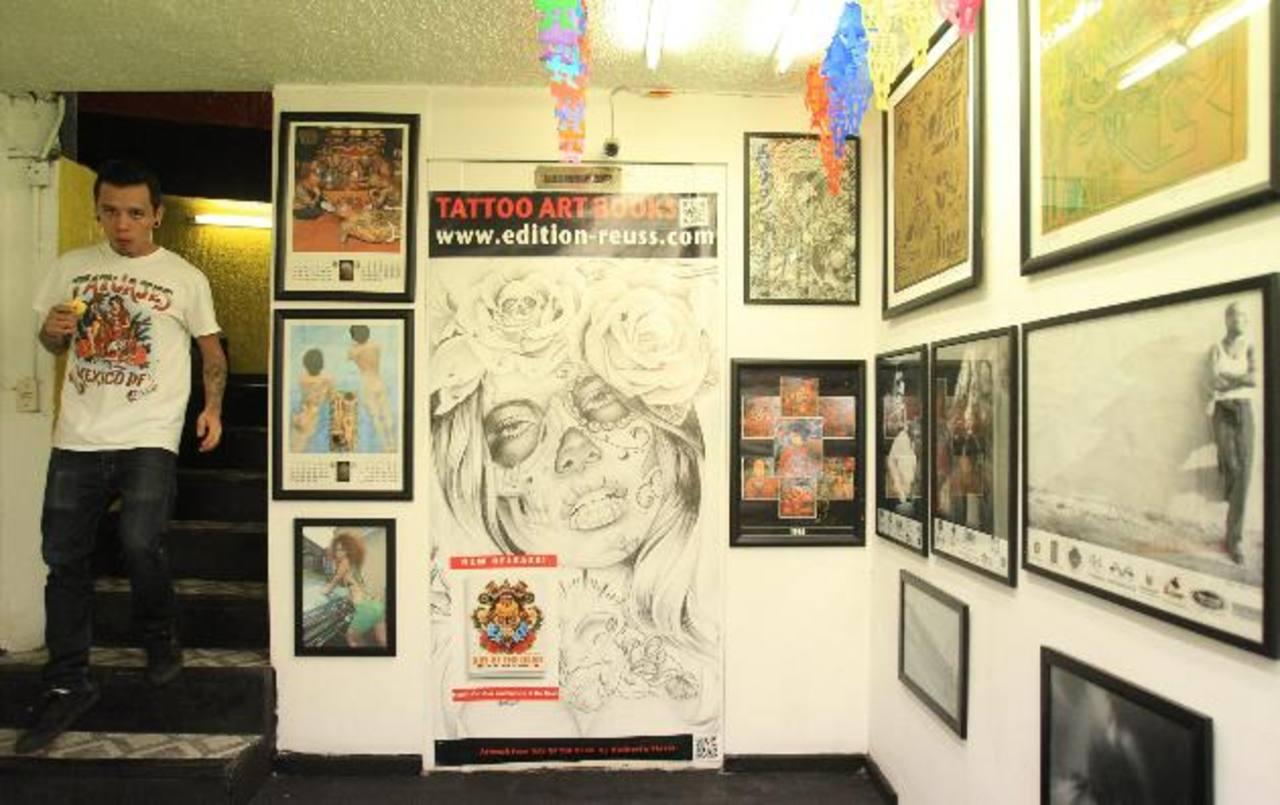 Uno de los espacios del Museo del Tatuaje, recién abierto en la capital de México.
