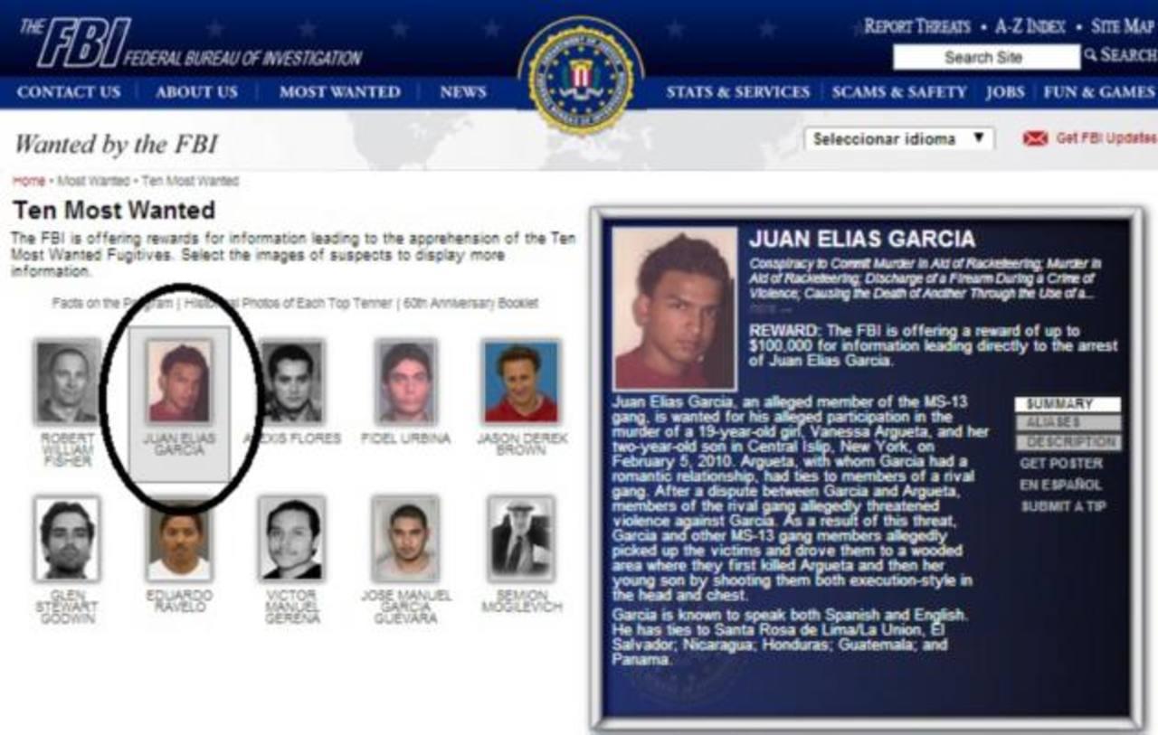 Foto tomada de la página web del FBI