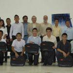 Estudiantes del Programa de Jóvenes Talento de la UFG quienes reciben instrucción en diferentes áreas. Foto EDH / Cortesía