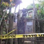 Vivienda donde ayer fueron ejecutados los hermanos Élmer Iván y José Roberto Argueta, en el caserío Guadalupe, cantón Palo de Campana, Santa Ana.