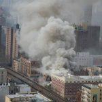 Dos edificios se derrumbaron tras explosión.