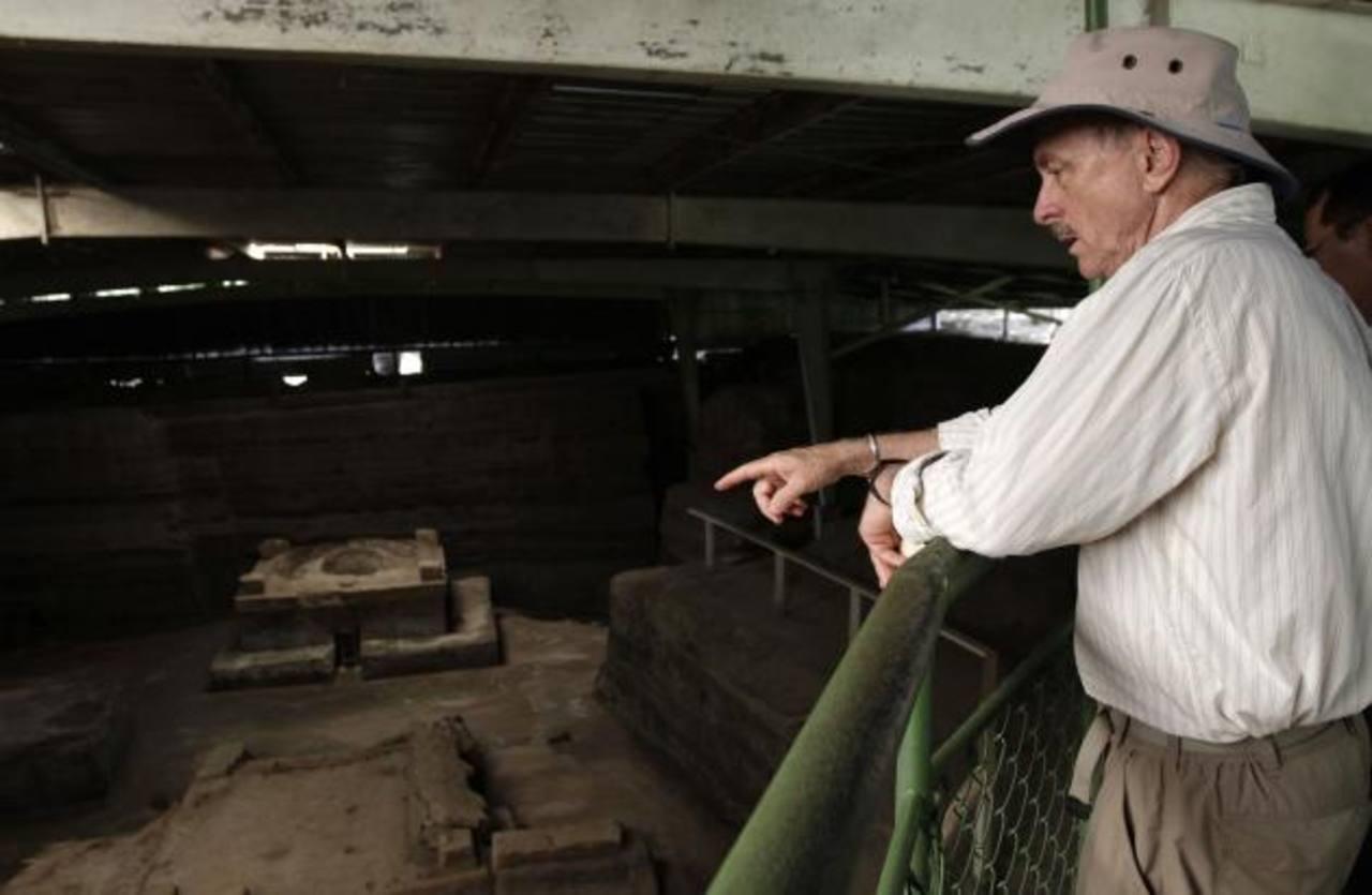 Payson Sheets determinó grandes hallazgos que conllevaron a declarar el sitio arqueológico salvadoreño como Patrimonio Cultural de la Humanidad . Foto EDH/ARCHIVO