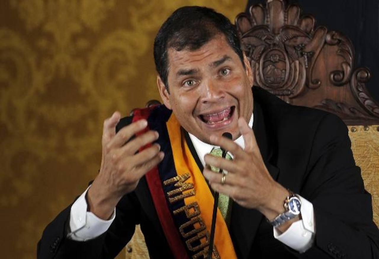 """El gobernante de Ecuador, Rafael Correa, admitió el """"doloroso"""" revés en los comicios locales del domingo 23 de febrero. foto edh / internet"""