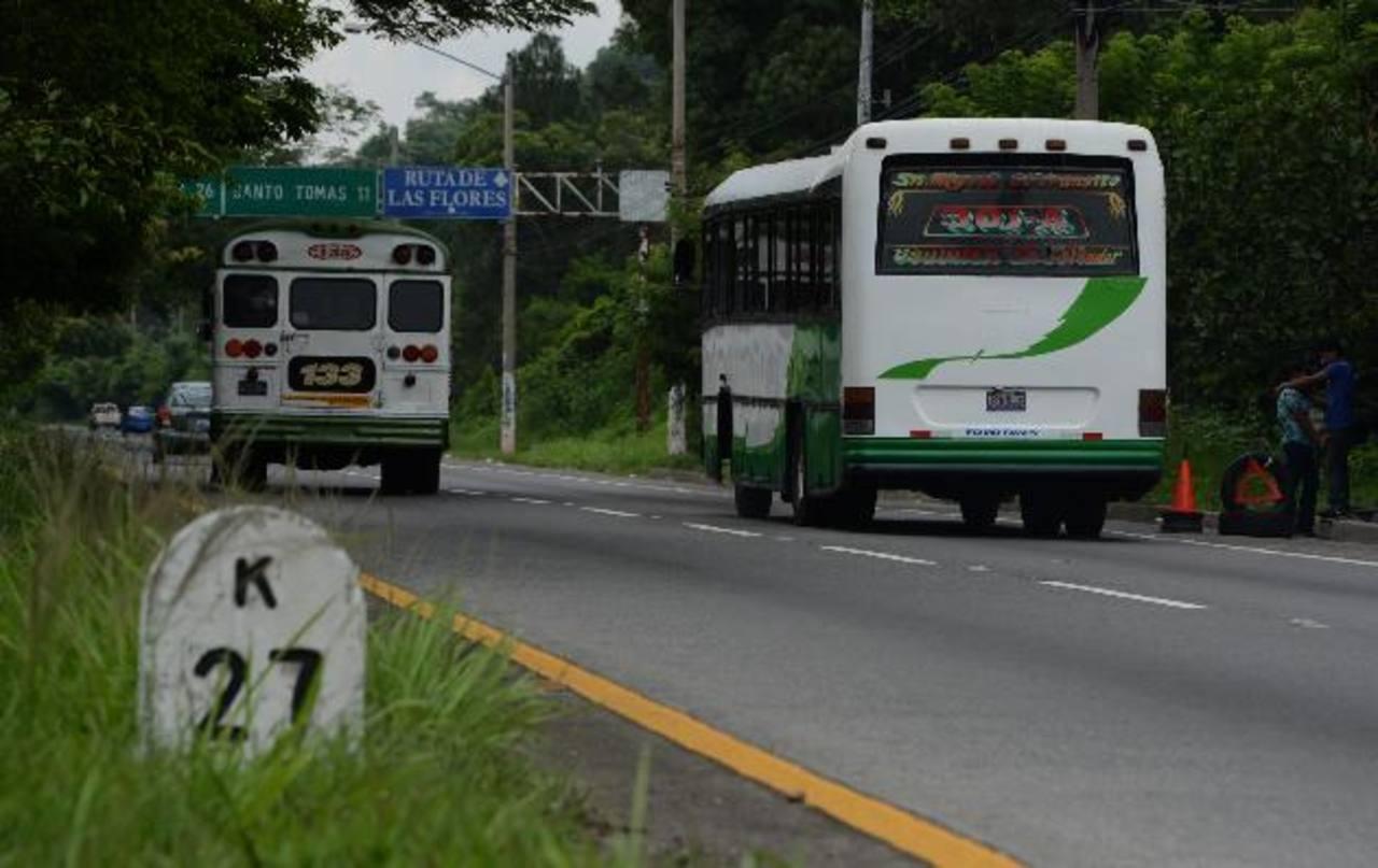 Autopista a Comalapa con constantes asaltos. Foto EDH