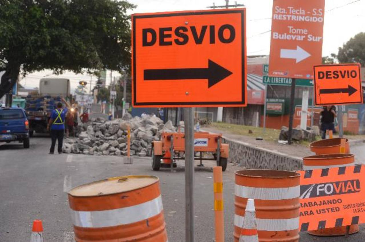 Trabajos del Fovial afectarán en Las Delicias y Santa Elena