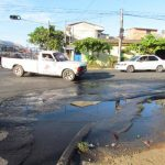 El problema es en la esquina de la 31a. Calle Poniente y 10a. Avenida Sur. Foto EDH / Mauricio Guevara