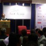 Mari Carmen Aponte, embajadora de Estados Unidos en El Salvador, en su discurso frente a inversionistas, empresarios y políticos convocados por la AMCHAM.