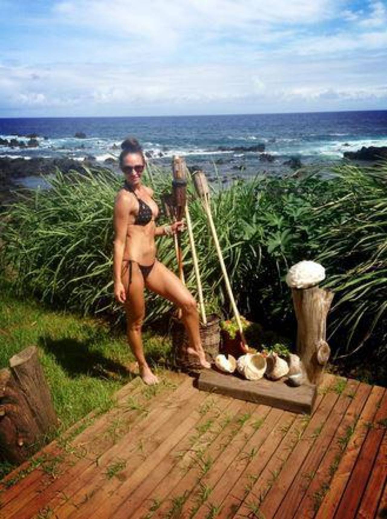 Fotos: Jesica Alonso se va de vacaciones a la Isla de Pascua