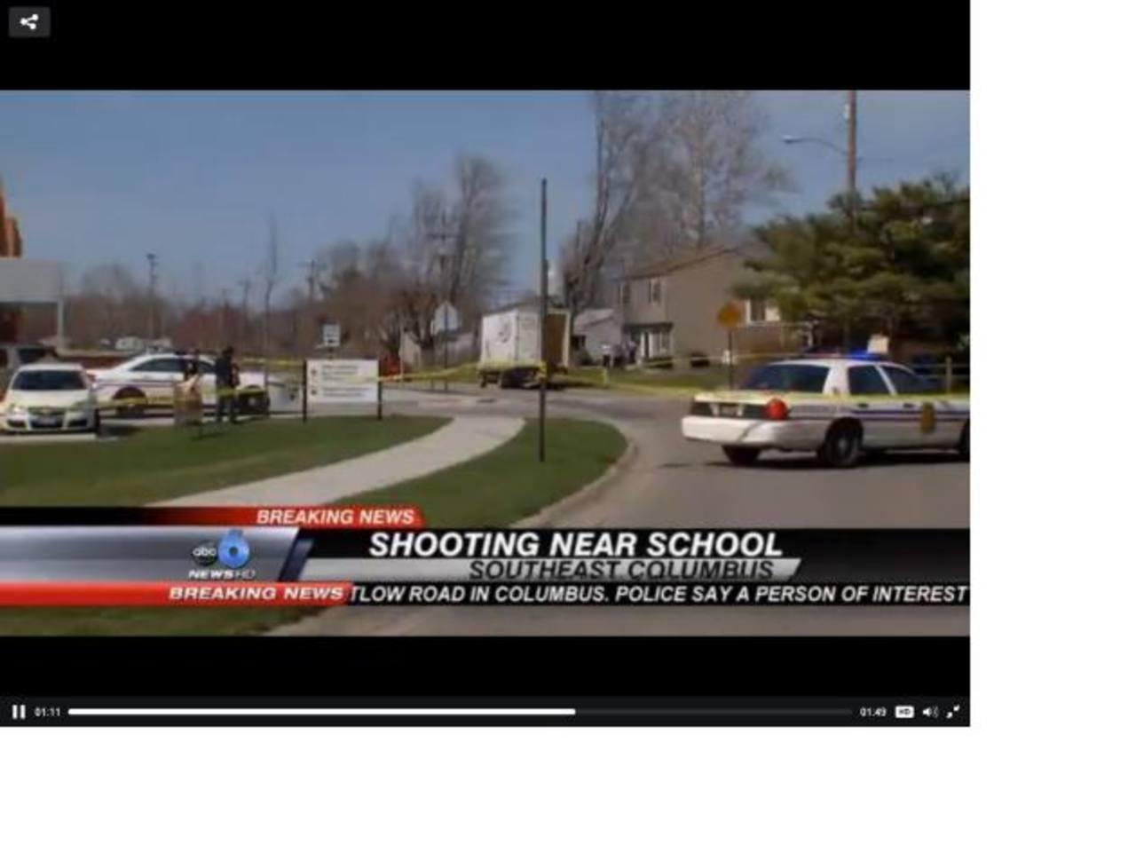 Autoridades acordonaron las cercanías de la escuela elemental Liberty, en el suroeste de Columbus, Ohio. foto edh / internet