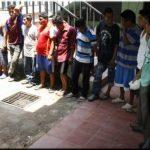La Policía manifestó que varios de los detenidos asaltaban los ranchos de turistas en Cangrejera. Foto EDH / Cortesía PNC