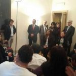 El presidente electo, Salvador Sánchez Cerén, se reunió con salvadoreños residentes en Italia.