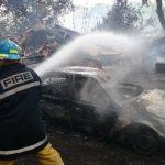 El siniestro ocurrió en el predio de autos de la Policía, en la colonia 5 de noviembre de Santa Ana. Foto EDH/ Iris Lima