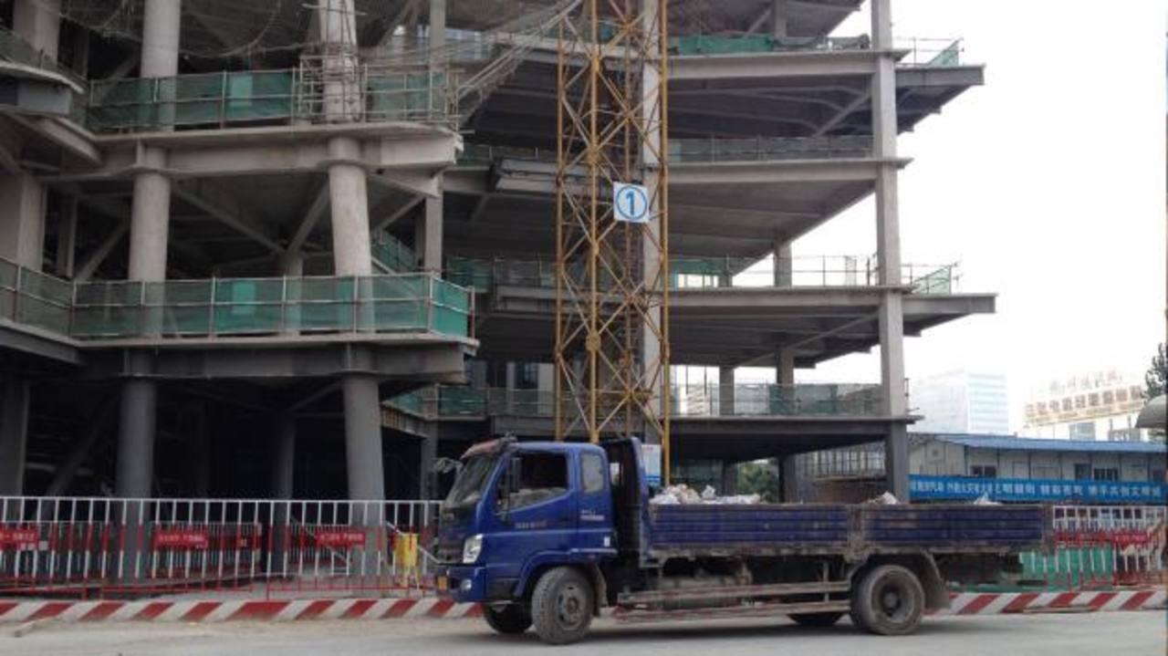La construcción a gran escala apoya el crecimiento chino.