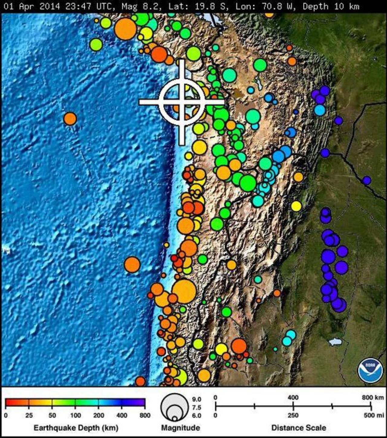 Chile, un país con historia de fuerte sismos