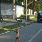 Escena de homicidio en San Martín.