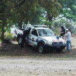 Tres agentes policiales fueron atacados por supuestos pandilleros en la finca San Lorenzo, San Matías. En el hecho un policía murió y dos resultaron heridos. Foto vía móvil Jaime Anaya