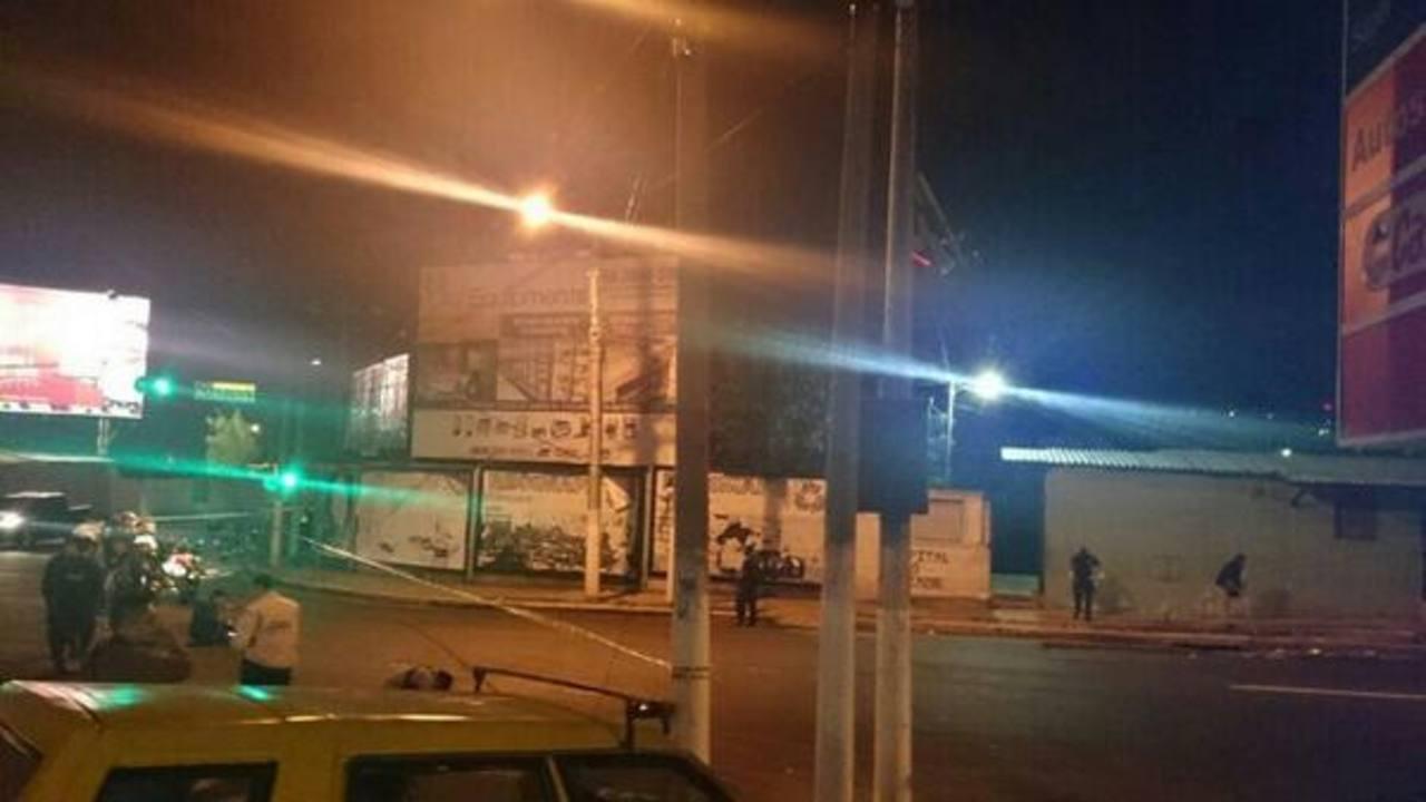 Esta es zona del ataque armado perpetrado esta noche frente a la comunidad Nuevo Israel, en San Salvador.