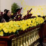 Miembros de la Orquesta Sinfónica de Bogotá, participó en un homenaje al fallecido escritor colombiano Gabriel García Márquez.