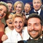 """La famosa autofoto (""""selfie"""") que la presentadora de los Oscar Ellen DeGeneres se hizo con algunos de los actores"""