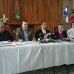 Un grupo de religiosos y representantes de la sociedad civil brindaron conferencia de prensa para hablar de la pacificación con las pandillas.