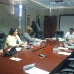 Los diputados en la comisión instalada hoy.