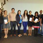 Representantes de Editorial Kalina junto a los poetas salvadoreños en el Museo de Arte. Foto EDH/Lissette Monterrosa