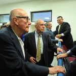 En noviembre pasado, el Juzgado Séptimo de Paz realizó la audiencia inicial en la que otorgó libertad condicional a los nueve procesadas. Foto EDH / Archivo.