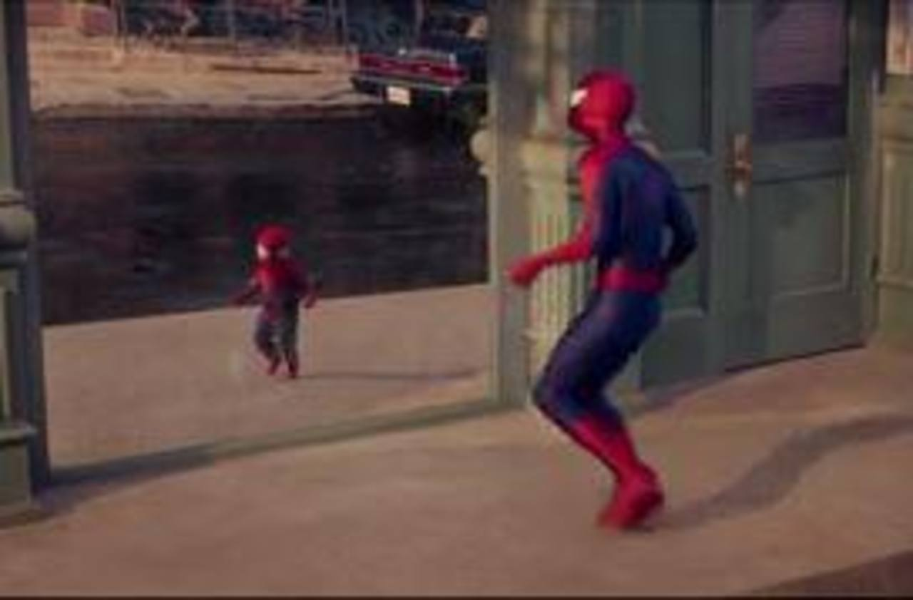 ¿Te imaginas a un Spider-man bebé?