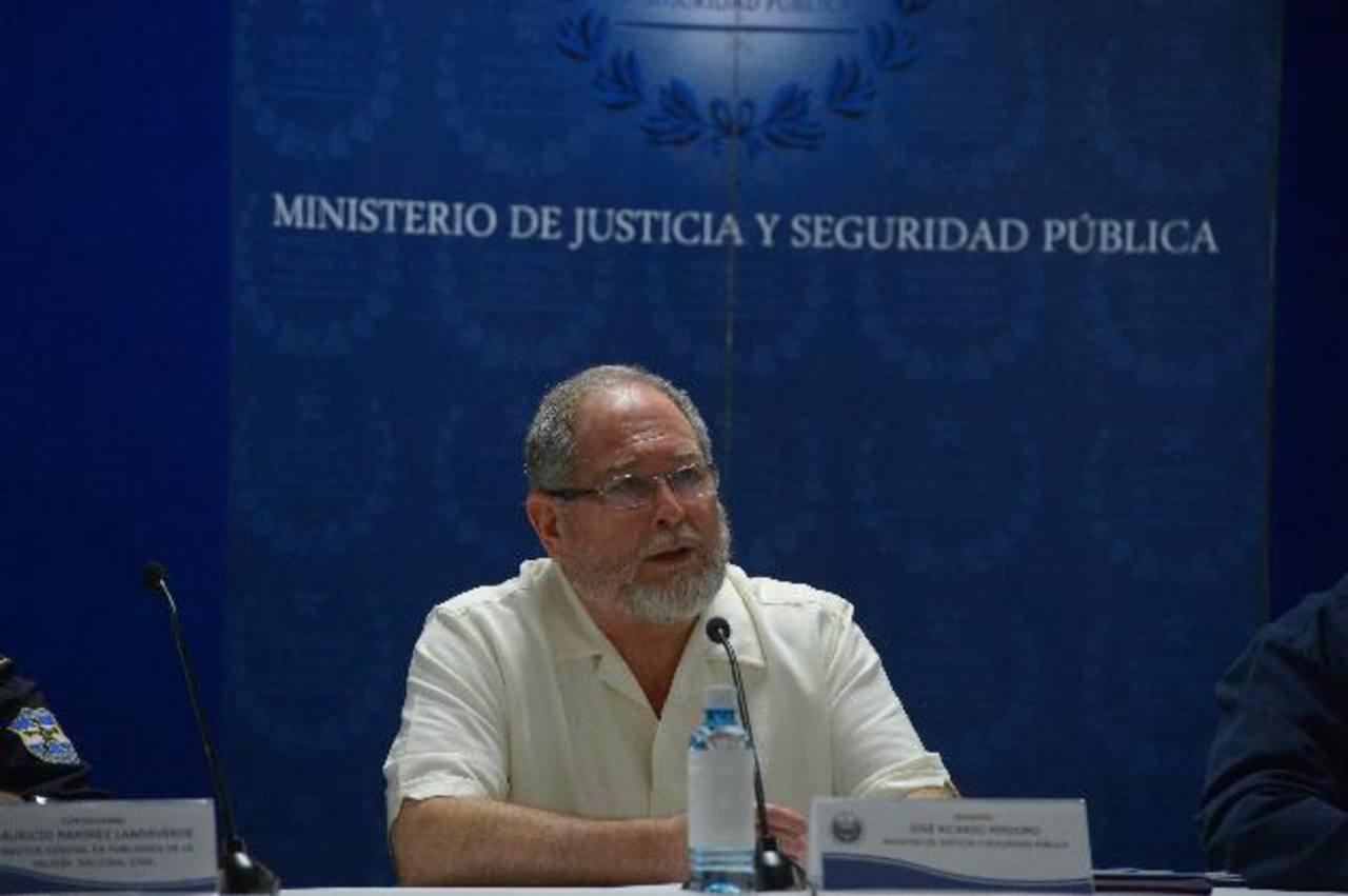 Ricardo Perdomo, Ministro de Seguridad y Justicia.