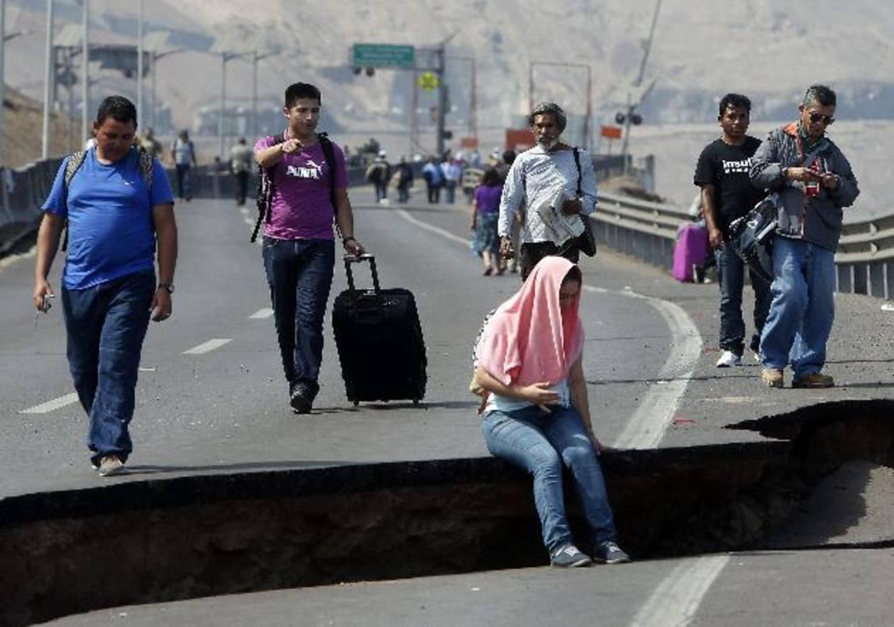 Algunos daños de causados por los sismos de los últimos días