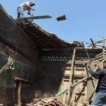 Familias reparan sus viviendas dañadas en Nagarote.