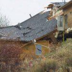 Desplazamiento de suelo parte casa en Wyoming