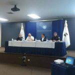Las autoridades de Seguridad Pública y de la PNC en conferencia.