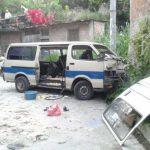 Diez lesionados por accidente vial en Cuscatancingo