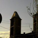El arcángel de la iglesia de Jujutla cayó por los fuertes vientos