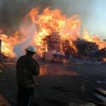 Incendio consume fábrica de muebles en Ilopango