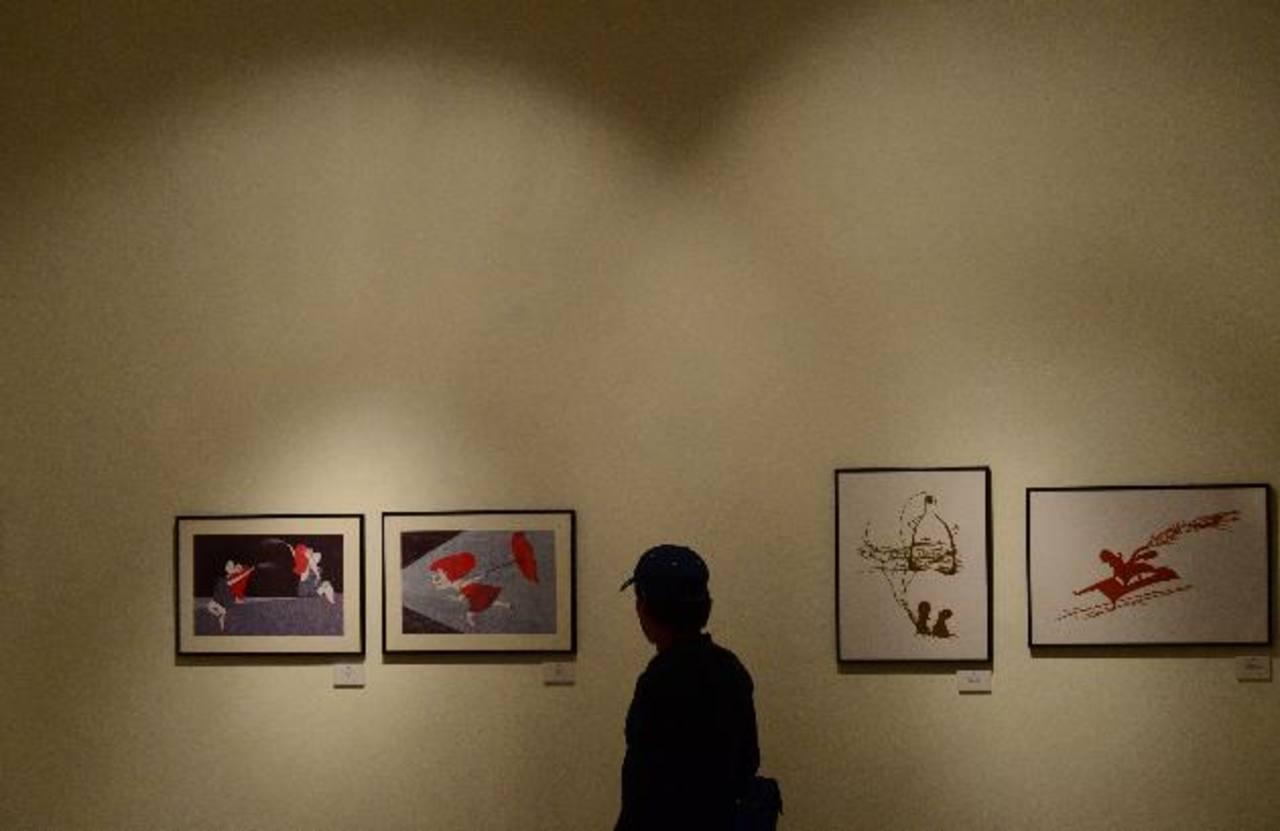 El Catálogo Iberoamericano de Ilustración llegó a El Salvador. Estará hasta el próximo 11 de mayo. Fotos EDH/ omar carbonero