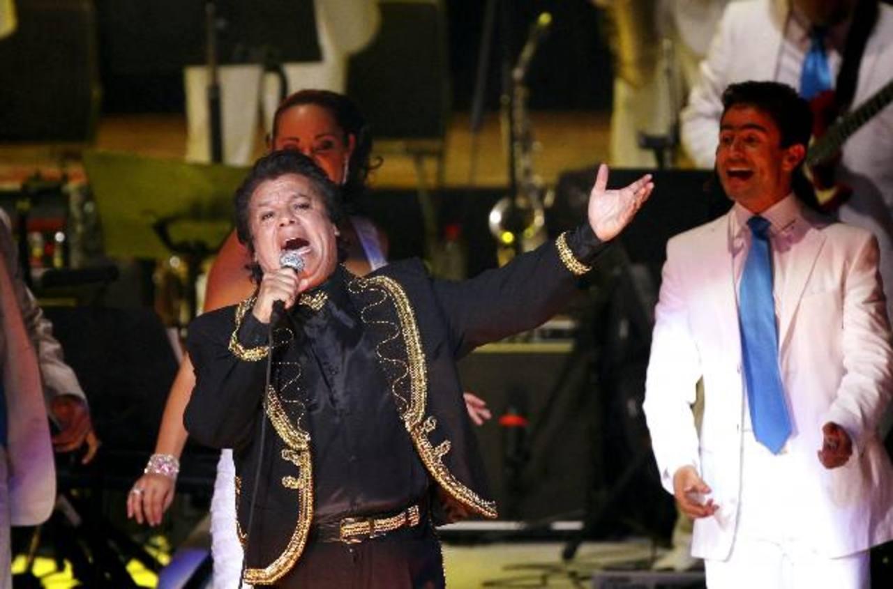 El cantante mexicano Juan Gabriel