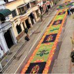 Alfombra con la que Guatemala obtuvo el récord Guinness en 2013