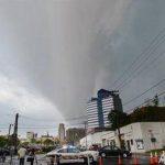 Aspecto tormentoso en Durham, Carolina del Norte, el viernes 25 de abril del 2014.