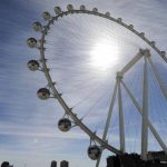 La High Roller, la rueda de la fortuna de Las Vegas tiene 167 metros de alto (550 pies) y comenzó a operar el 31 de marzo de 2014. Foto/ AP