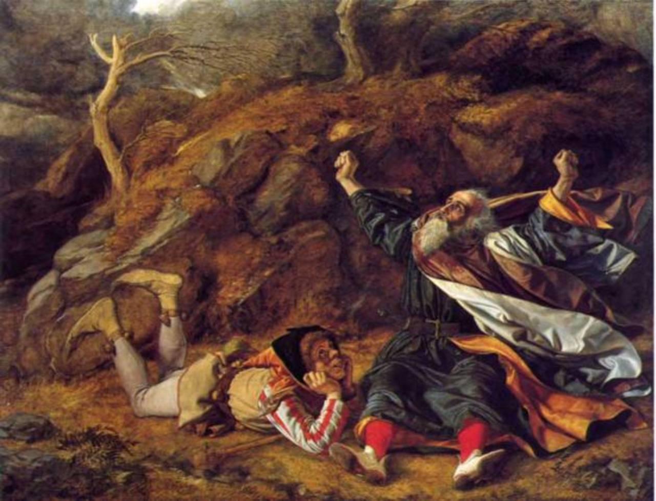 """Obra del pintor escocés William Dyce, titulada """"El rey Lear y el bufón en la tormenta"""". foto EDHRetrato del dramaturgo, poeta y actor inglés William Shakespeare. foto EDH""""El bufón de la corte"""" (1875). foto EDH"""