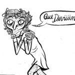El artista trata de mostrar en sus ilustraciones situaciones de la realidad salvadoreña de una forma infantil.