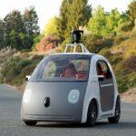 Imagen proporcionada por Google del prototipo de su vehículo que se conduce solo.