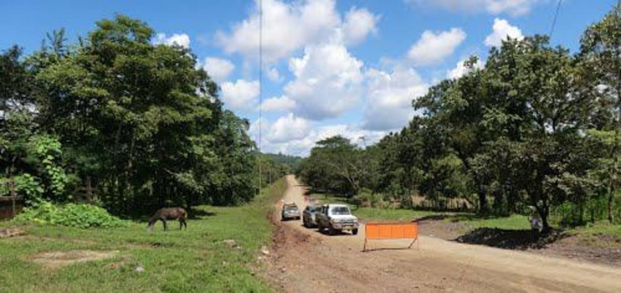 Carretera entre los municipios de Río Blanco y Mulukukú, que será construída con concreto hidráulico.