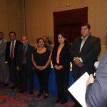 La nueva directiva de la SCIS fue juramentada por el presidente de la ANEP. Foto edh / Cortesía
