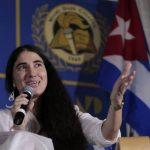 La disidente y activista bloguera, Yoani Sánchez.
