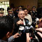 En muchas ocasiones se vio al mandatario perder la calma y atacar a sus adversarios políticos y hasta periodistas. foto edh / archivoFunes insultó a Jorge Daboub, de ANEP. foto edh / archivo